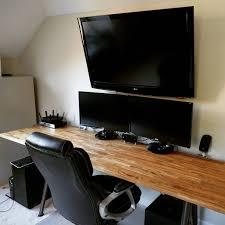 Counter Top Desks My 8700 Ultrawide 8 Ikea Hacked Desk Diy