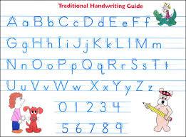 Traditional Cursive Alphabet Alphabet Image And Picture