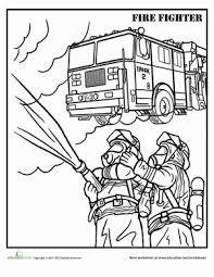Small Picture Firefighter Worksheet Educationcom