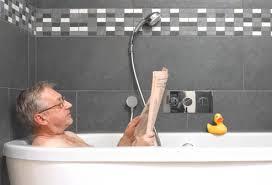 reading in the bathtub