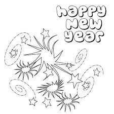 Small Picture Lovely Swirling Firework on New Years Party Coloring Page