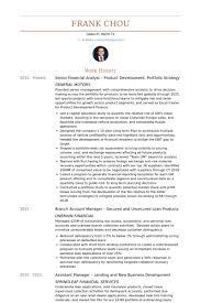 Senior Financial Analyst Resume Samples Visualcv Resume Samples