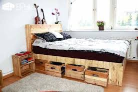 king size pallet bed pallet bed frame with storage palette bed amazing king size pallet