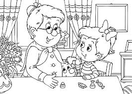 Small Picture Little Girl Met Her Grandmother Coloring Pages Color Luna
