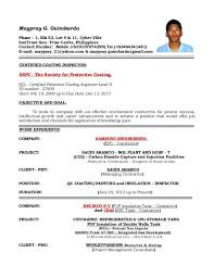 quality control engineer resume sample g 1 lot 9 position sample resume  quality control civil engineer