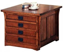 mission style mini chest 4 drawer end table