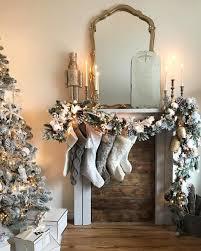 Mantle Garland Lights Christmas Mantle Faux Mantle Vintage Mirrors Flocked