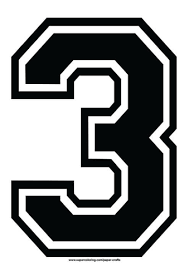 number 3 template black football shirt number 3 template free printable papercraft