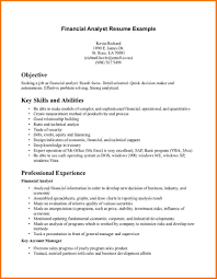 Example Financial Analyst Resume Free Sample 11 Financial Analyst