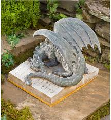 dragon garden statues. Dragon On Glowing Storybook GO7829 Garden Statues L