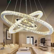 led chandelier 3 ring crystal ring chandelier crystal light fixture light suspension led lighting circles lamp tri tone light contemporary chandelier antler