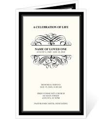 Memorial Service Invitation Template Simple Signature Monogram Frame Program Template In 48 Projects To Try