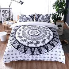 white boho bedding black and white bedding sets king size bohemian style polyester quilt cover set queen soft and comfortable bed clothes in bedding sets