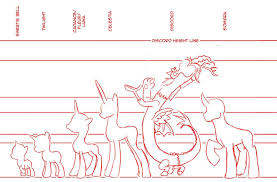 Pony Height Chart Mlp Fim Height Chart By Mattwilson83 Height Chart
