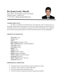 Example Of Resume Letter Resume
