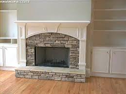 Seattle Stone Fireplace Surrounds U2013 Covering Your Old Brick Veneer Fake Stone Fireplace