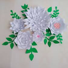 Made Flower With Paper 2019 Half Made Flower Latest Giant Paper Flowers With Leaves Set Nurseries Living Room Baby Shower Retails Stores Deco Half Made Video Tutorials From