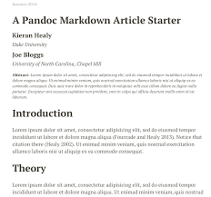 plain text papers pandoc html output from pandoc