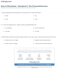 quiz worksheet steinbeck s the chrysanthemums com print the chrysanthemums summary setting worksheet