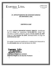 Formato De Certificado Laboral