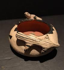 Ada Suina (b1930)Cochiti Figural White Slip Pottery Bowl,Excellent  Condition,NR! | #1895814357