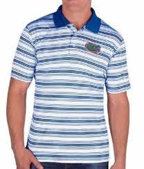 florida gators men s striped polo golf collared shirt rus athletics s 2xl 2xl