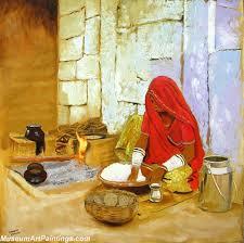 kitchen paintingsIndian Girl Paintings Kitchen