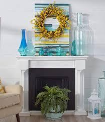 coastal fireplace mantel decor ideas