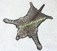 leopard skin rug miniature leopard skin rug for dollhouse one by faux animal skin rugs canada
