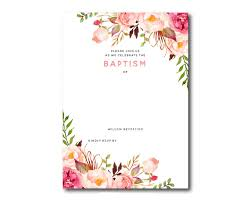 Invitation Free Templates Awesome FREE Template Free Printable Baptism Floral Invitation 1