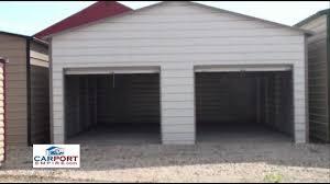 Steel Buildings - 24' x 26' Steel Garage Building By Carport ...
