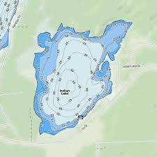 Indian Lake Fishing Map Us_mi_36_138 Nautical Charts App