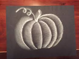 realistic pumpkin drawing. you created a realistic pumpkin with chalk! drawing