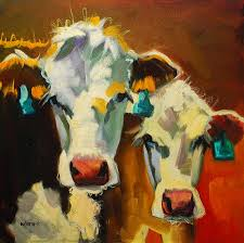 sibling cows by diane whitehead sibling cows painting sibling cows fine art prints and posters for
