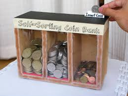 picture of coin sorting machine runs on gravity