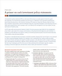 Investment Policy Statement Template Word Investment Policy ...