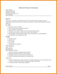 Bartending Resumes Download Bartending Resume Bartender Job