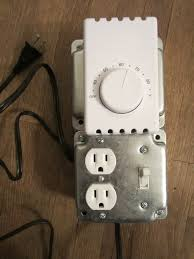 "how to build a thermostat controlled outlet howandsometimeswhy the switch on this one actually ends up being superfluous because as you can see in this picture the line voltage thermostat has an ""off"" setting"