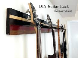 wall guitar hanger aloha home solutions rack wood mount