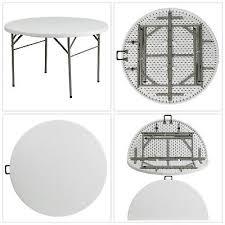 60 round bi fold granite white plastic folding table portable indoor outdoor