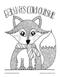 Adult Coloring Pages Coloring Christmas Coloring Pages Fox