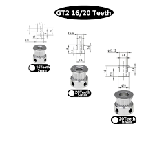 3D Printer Parts Accessory <b>GT2</b> 20Teeth 20 <b>Teeth</b> Bore 5mm/8mm ...