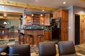 wet bar lighting. Cool Basements With Wet Bar Ideas And Armless Chairs Also Tile Flooring Barstools Cabinets Plus Man Cave Lighting Ceiling Beams