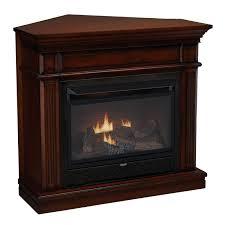corner ventless fireplace propane gas