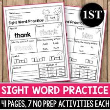 sight word 1st grade sight word activities 1st grade sight word practice sheets 1st grade