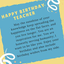 Best Birthday Wishes For Teacher Images Quotes Messages