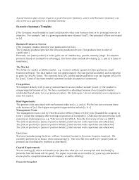 executive summery startup executive summary template