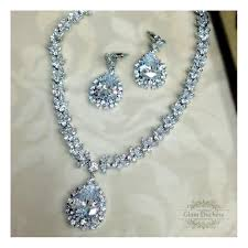 full set teardrop pendant. Princess - Wedding Jewelry Set, Crystal Necklace Earrings , Cubic Zirconia, Necklace, · Zirconia Teardrop Full Set Pendant