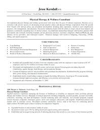 Physiotherapy Resume Sample Sample Professional Resume