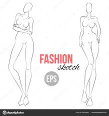 Body Template For Designing Clothes Woman Figure Sketch Different Poses Template Drawing Stylist